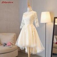 Short Lace Homecoming Dresses Long Sleeve 8th Grade Graduation Dresses Party Short Prom Dresses Tulle Vestido
