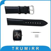 22mm correa de piel genuina para asus zenwatch 1 wi500q/2 hombres (WI501Q) smart watch band correa de muñeca pulsera de la correa + herramienta