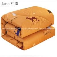 JaneYU 2019 New Design High Quality Deer Velvet Thicken Winter Quilt Free Shiping