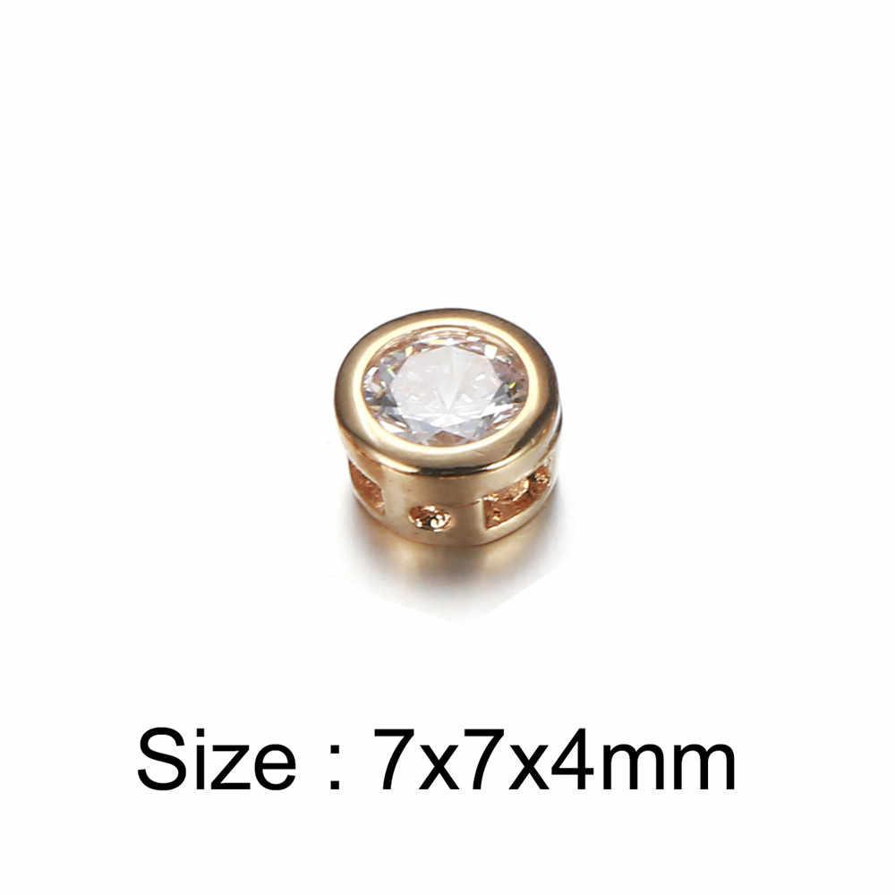 10 PCS שחור עלה זהב צבע קטן עגול דוט עיצוב קריסטל קסמי לצמידי ביצוע DIY תכשיטי אביזרים