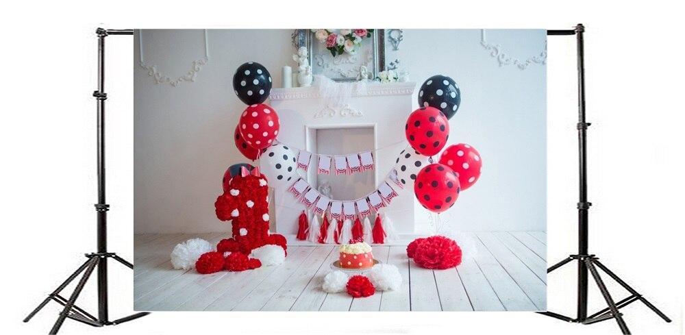 Laeacco Baby 1 Tort de balon cu flori pentru ziua de naștere - Camera și fotografia - Fotografie 3
