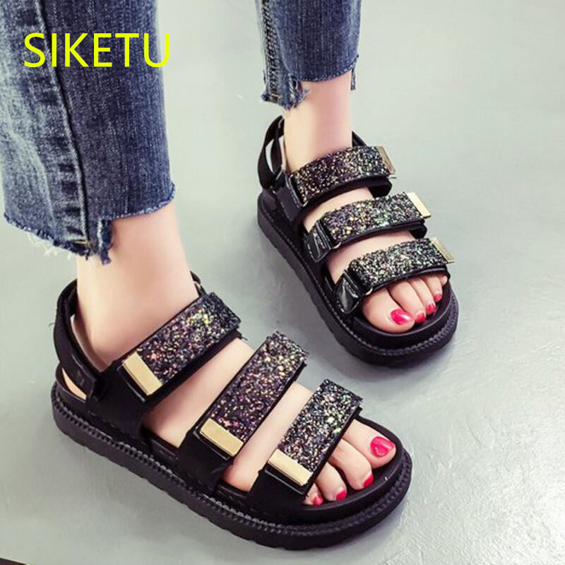 SIKETU Free shipping Summer sandals Fashion casual shoes sex women shoes flip flop Flat shoes l153 flip flop trend Wild Bohemia women shoes 2018 summer breathable fashion lady s casual shoes lace up girls handmade women woven shoes flip flop footwear 599w