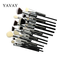 YAVAY Brand 25pcs Professional Makeup Brushes Set Brush Tools Kit Foundation Powder Blushes Eye Shader Luxury