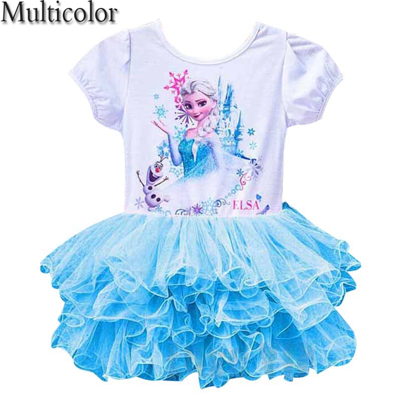 Elsa Girls Cloth Dress Anna Girl's Dresses Princess Dress Party Dress For Baby Kids Queen Infant Costume Party Vestidos Clothes цена 2017