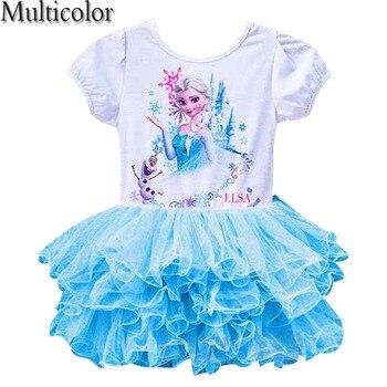 c6d9373f3 Vestido de tela para niñas Elsa Anna Vestidos de princesa vestido de fiesta  para bebés niños reina traje infantil Vestidos de fiesta ropa