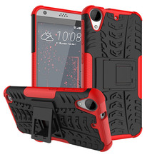 Hybrid Armor Hard Texture Design Protective Case HTC Desire 530 630 728 825 828 Dual Sim One A9 Cover With Shockproof Function(China)