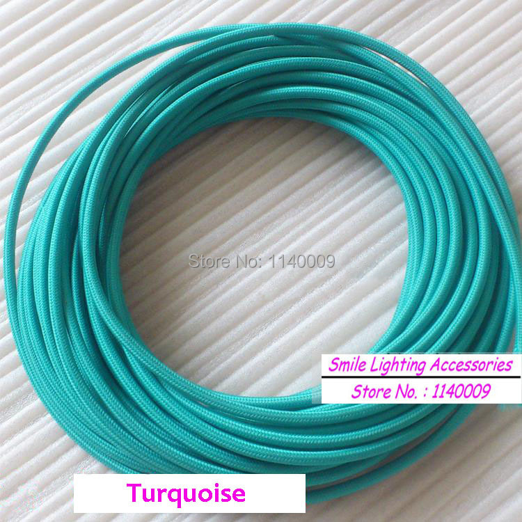 10 Meters Multicolor 2 Core 0 75mm2 Textile Electrical