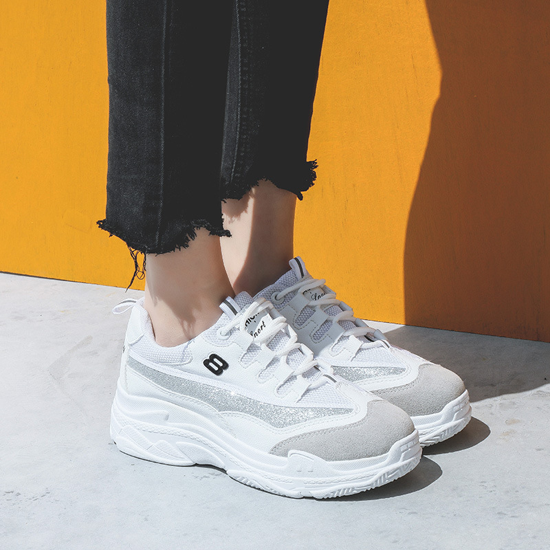 Mode Casual blanc Blanc 2018 Noir Nouveau Harajuku Plates Femme Chaussures FfYFEwWzq