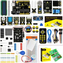 Keyestudio super starter kit/kit de aprendizagem (uno r3) para arduino uno r3 projetos com caixa de presente + 32 projetos + manual do usuário + pdf (online)