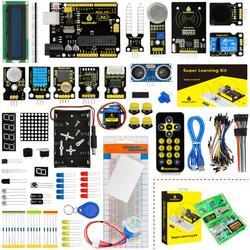 Kit de iniciación/Keyestudio Kit de aprendizaje (UNO R3) para proyectos Arduino UNO R3 con caja de regalo + 32 proyectos + Manual de usuario + PDF (en línea)