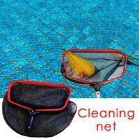Outdoor Floating Pool Leaf Rake Professional Skimmer Net Aluminum Plastic Shrink Rod Heavy Duty Mesh Net Pool Cleaning Kit