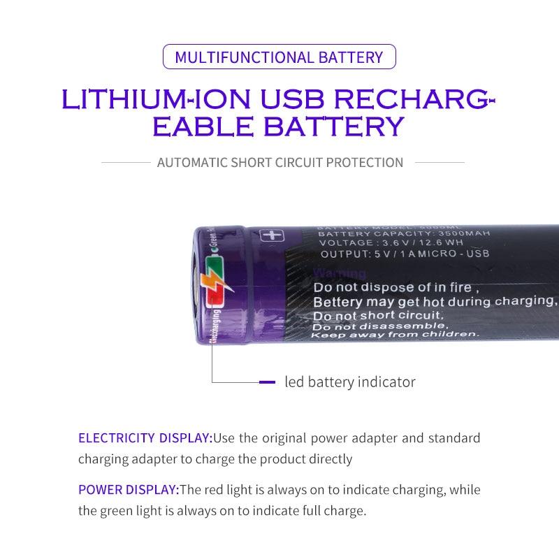 Image 4 - Laptop battery 8PCS Liter energy battery USB 5000ML Li ion Rechargebale battery USB 18650 3500mAh 3.7V Li ion battery + USB wire-in Laptop Batteries from Computer & Office