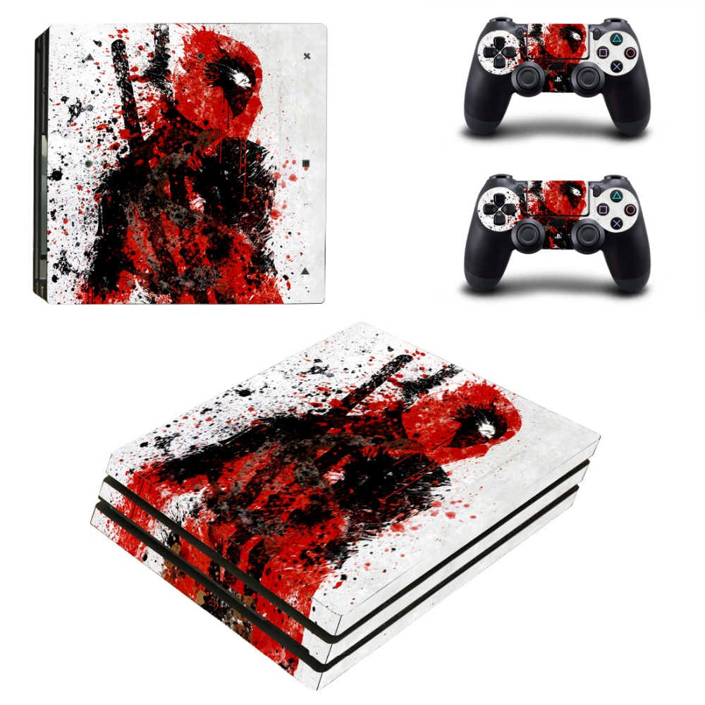 Deadpool PS4 Pro Skin Sticker Cover For Sony Playstation 4 Pro Console&Controllers