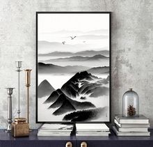 Modern Chinese ink landscape painting Poster Canvas Wall Home Decoration Combined