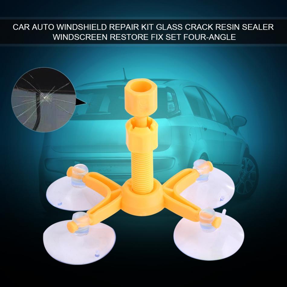 Car Auto Windshield Repair Kit Glass Crack Resin Sealer Windscreen Restore Fix Set Four-angle 2018