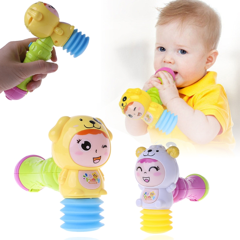 Toys Hammers Rattle Musical-Toy Noise-Maker Led-Light Baby Child Sound 1PC Flashing-Toys