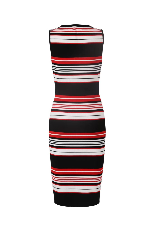 Dalla Rayon Qualità Righe A 2018 Collo O Del Vestido Vestito Celebrità Modo Fasciatura Progettista Sexy Della Alta Di 04xwzz