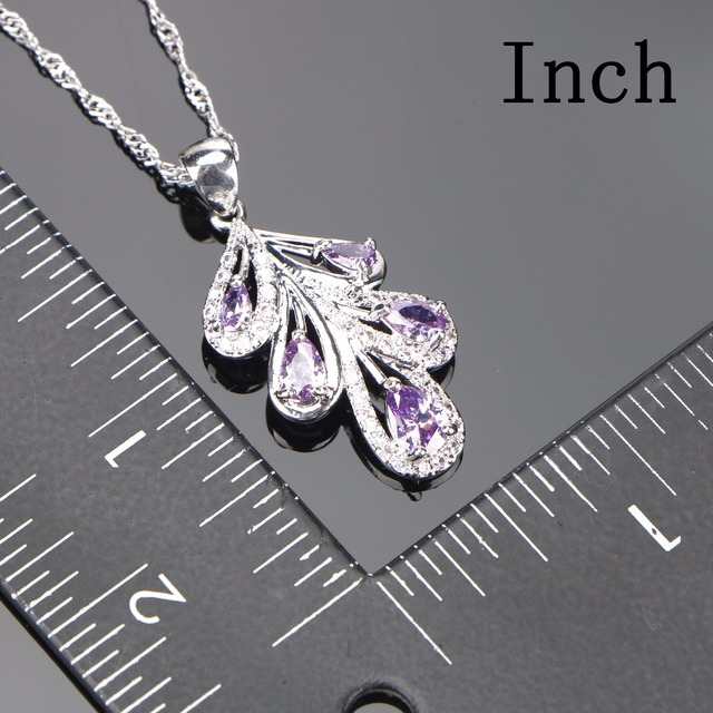 Bridal Purple Jewelry Sets For Women 3
