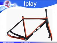2019 New IPLAY Toray T800 carbon cyclocross frame Disc brake carbon CX frameset di2 Compatible Carbon Cyclocross Bike Frame fork