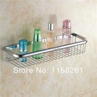 Bathroom Shelves 45cm Single Tier Basket Brass Chrome Shower Shelf Cosmetic Holder Wall Mounted Home Accessories Shelf KH 1066