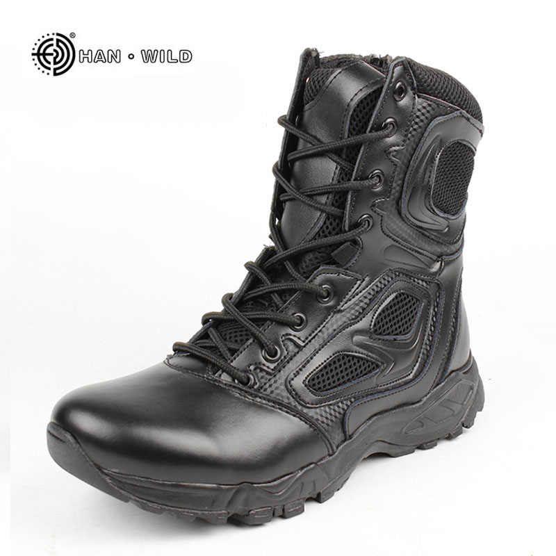 2018 Winter Tactical Boots Men Black Desert Safety Army Shoes Motorcycle Breathable Military Assault Combat Ankle Boot