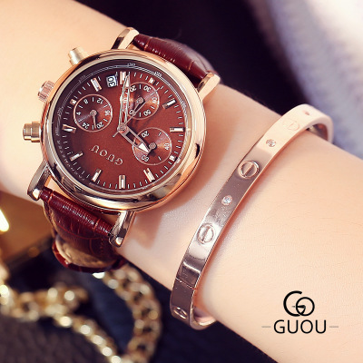 GUOU 2017 Fashion Quartz Watch Women Watches Ladies Girls Famous Brand Wrist Watch Female Clock Reloj Mujer Relogio Feminino top ochstin brand luxury watches women 2017 new fashion quartz watch relogio feminino clock ladies dress reloj mujer
