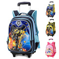 New Boys Trolley School Bags Backpack Bag on Wheels for Girls Primary School Satchel Children Travel Luggage Free Shipping
