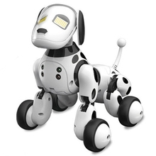 Buy Intelligent RC Robot Dog Toy Smart Electronic Pets Dog Kids Toy Cute Animals RC Intelligent Robot Gift Children Birthday Present directly from merchant!