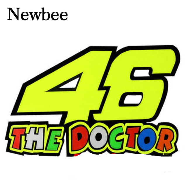 Newbee colourful vr46 rossi motorcycle helmet decal car sticker vinyl 46 the doctor for harley kawasaki