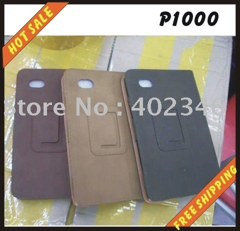Free shipping--Hot sale-leather case for phone case,leather case back cover for SAMSUNG P1000
