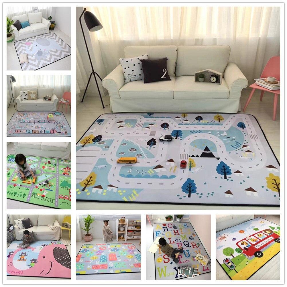 Толстые Мультяшные ковры 150X200 см для гостиной, мягкие коврики для спальни, детские коврики для игры в ползание, противоскользящий ковер, детская комната