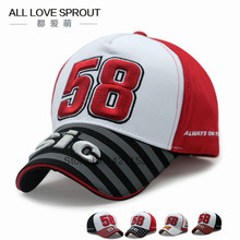2016-2017 fashion MOTO GP NEW 58 Motorcycle gorras men Racing bone Caps Baseball Cap Hat snapback hats Casquette