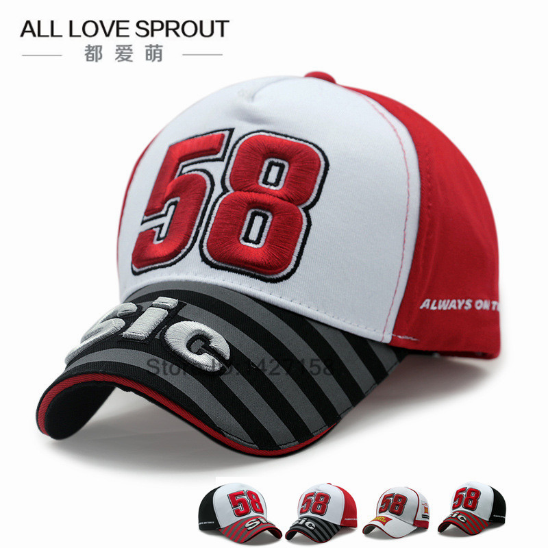 2018-2017 fashion MOTO GP NEW 58 Motorcycle gorras men Racing bone   Caps     Baseball     Cap   Hat snapback hats Casquette