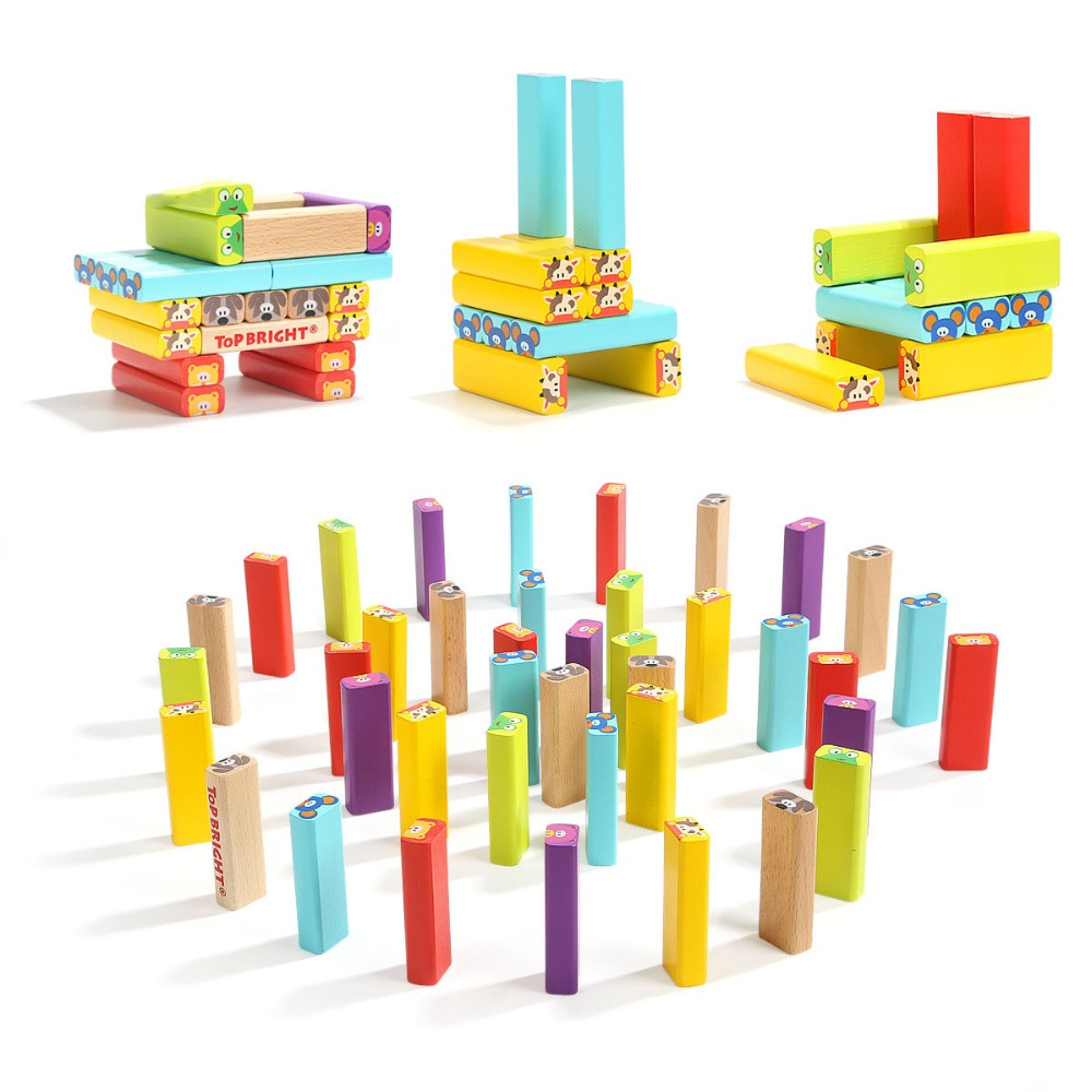 Cutebee Wooden Toys for Children Montessori Toy Building Blocks Cube Educational Stacked Blocks for Kids Baby Toys dayan gem vi cube speed puzzle magic cubes educational game toys gift for children kids grownups