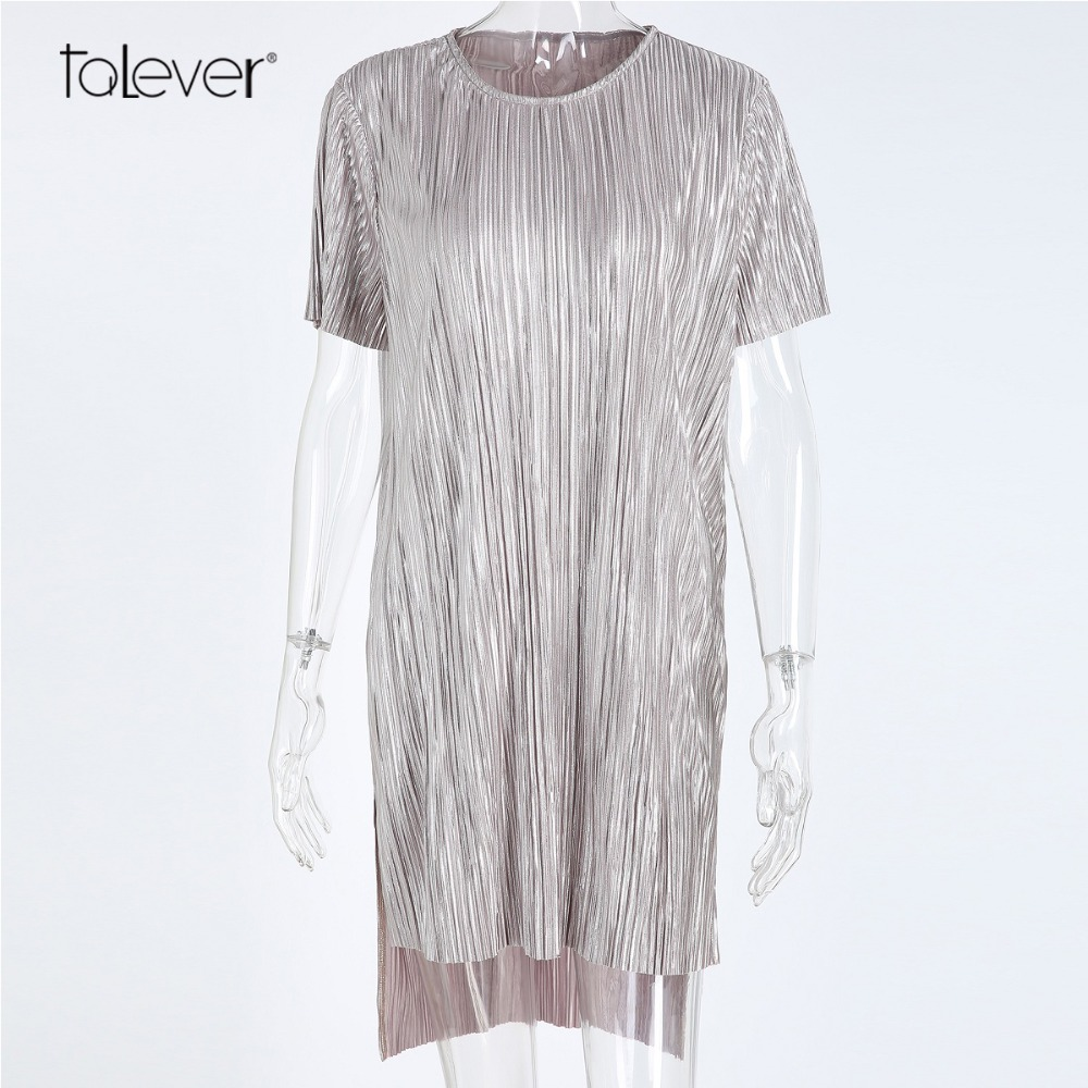 Women Casual Summer Knitted Shirt Dress Short Sleeve O-Neck Loose Side Split Midi Dress Female Sexy Party Mini Dresses Talever женское платье dresses dress women 2015 printsleeveless o summer style women dress