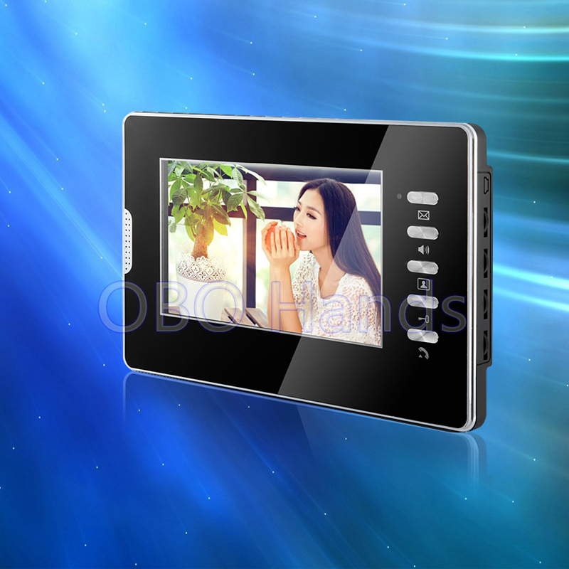 ФОТО 7'' color video door phone indoor monitor screen with high quality for home secure system without IR COMS video doorbell camera