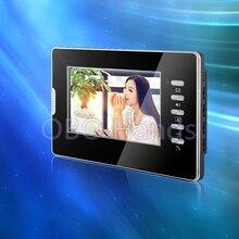 """7 """"color de vídeo teléfono de la puerta de pantalla del monitor de interior con alta sistema de calidad para el hogar seguro sin IR COMS vídeo timbre de la puerta cámara"""