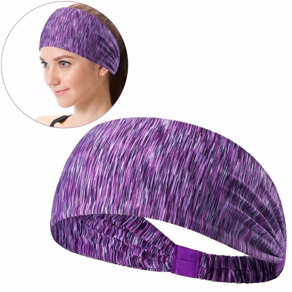 Quick Drying Anti-sweat Sport Headband Wide Sweat Absorption Sweatband Hairband Scarf For Fitness Yoga Running Sportswear Woman