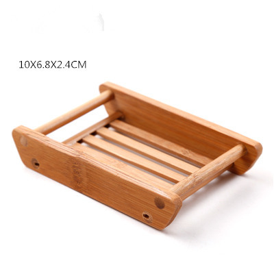 Tsorryen Natural Wood Soap Holder Dish Bathroom Shower Plate Stand Storage Box Shelf Home