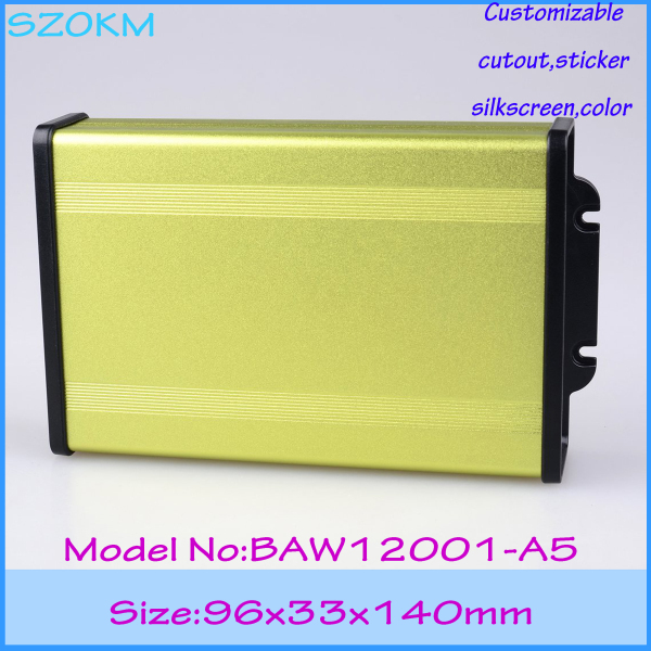 1 piece free shipping aluminium project box 96x33x140 mm aluminum case electronics enclosure aluminium profile box 1 piece free shipping new arrival aluminum enclosure project box extruded aluminum housing for electronics 55 h x160 w x219 l mm