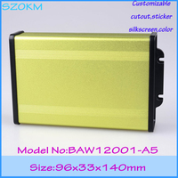 1 piece free shipping aluminium project box 96x33x140 mm aluminum case electronics enclosure aluminium profile box