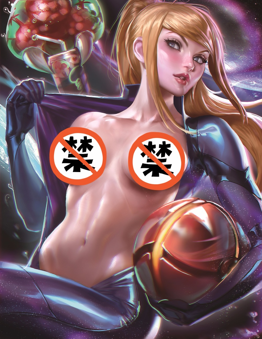 Print art silk or canvas poster METROID cute beauty samus sexy modern living room room print 13x20 24x36 inch movie wall picture image