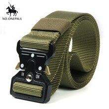 NO. ONEPAUL мужской военный классический тактический ремень высокоэластичный металлический крючок для тренировок на открытом воздухе высокое качество новые нейлоновые солдатские ремни