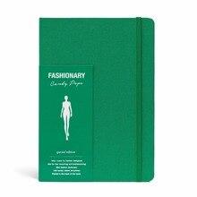 Diseño de dibujo animado A5 con 130 páginas, plantillas de figuras para mujer para inspirarse en el tiempo, Color verde