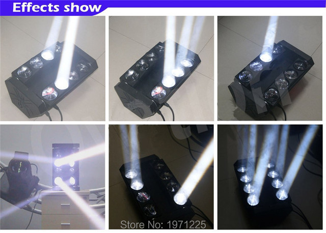 2pcs/lot  8X10W 4 IN1 Double Row LED RGBW Beam Light 8 led Spider Beam bar moving head/DJ/effect light/stage lighting