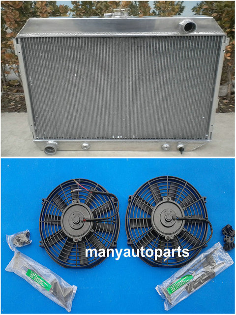 US $180 0 |68 74 For Dodge Charger Challenger 6 3L 7 2L 383 440ci V8 full  Aluminum Radiator with FAN-in Radiators & Parts from Automobiles &