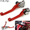 Pivot Dirt Foldable Brake Clutch Levers For Honda CR80R 85R 125R 250R CRF250 CRF450 150 230F