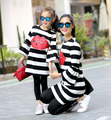 Retail 2017 new spring Parent-child outfit daughter mother daughter horn sleeve dress girls 3-14 year mom M-L-XL dress  XH3241