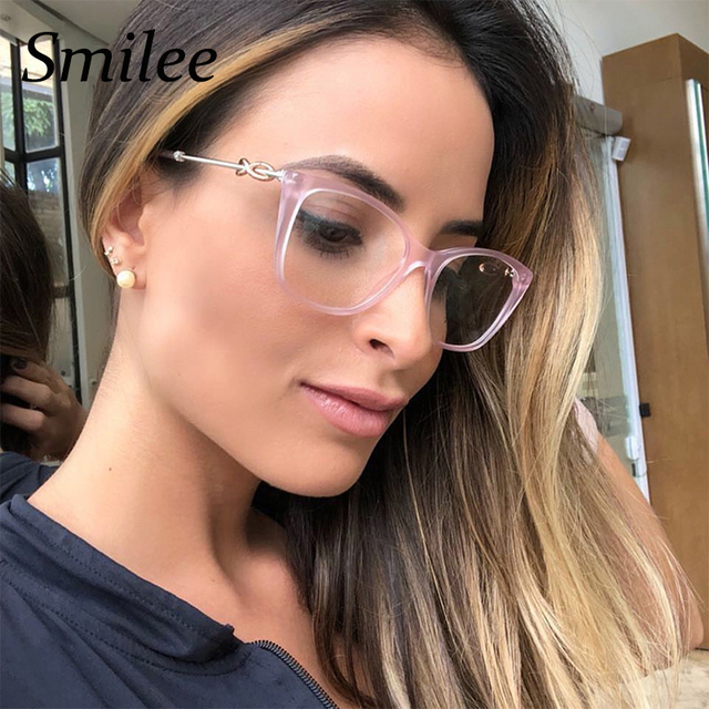 37042a8ff9c Clear fashion glasses 2018 brand designer square eyeglasses frames women  luxury pink optical glasses transparent spectacles