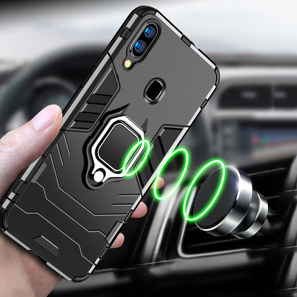 Image 5 - For Samsung Galaxy A40 A30 A20 Case Armor PC Cover Finger Ring Holder Phone Case For Samsung A 40 30 20 Cover Durable Bumper-in Fitted Cases from Cellphones & Telecommunications